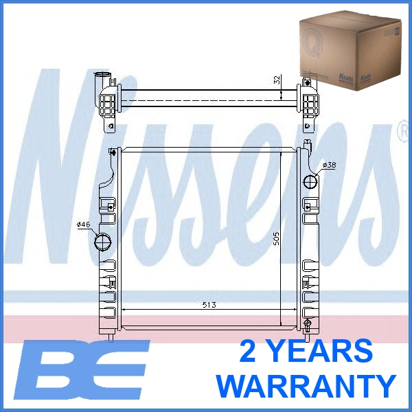 Nissens 61026 Engine Cooling Car Radiator Manual Automatic With Without AC